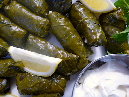 stuffed vegetarian vineleaves