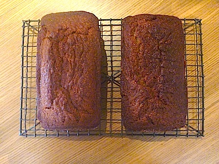 Two loaves of banana bread