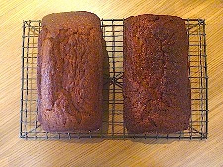 Two loaves of banana bread
