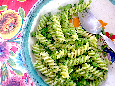 River cottage macaroni peas