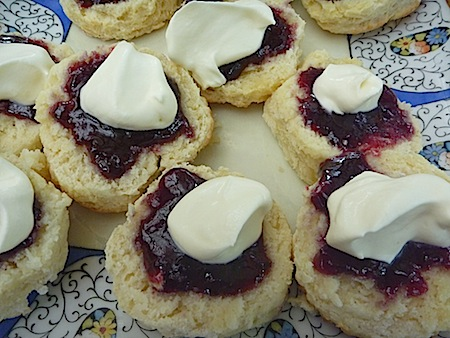 buttermilk scones with jam and cream
