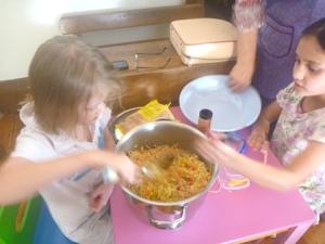 Mixing Chang's crisptynoodle coleslaw