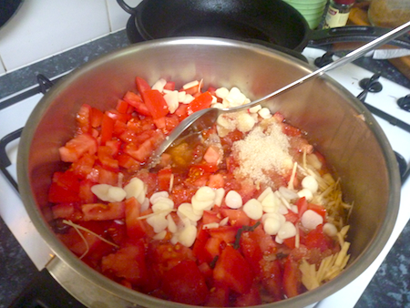 cooking tomato chutney