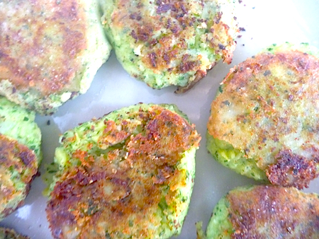 green potato cakes