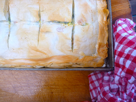 Spanakopita - Greek spinach and feta pie