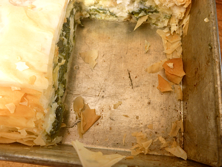 Spanakoputa - Greek spinach and feta pie