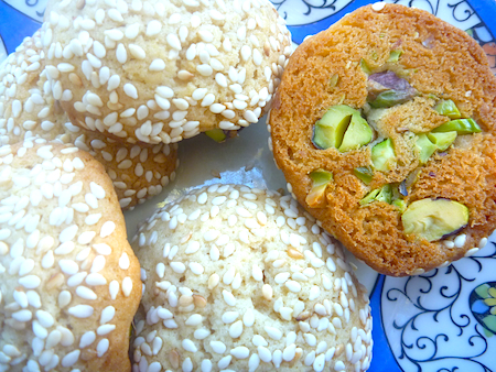 Bazarek  crucnhy seasame and pistachio cookies