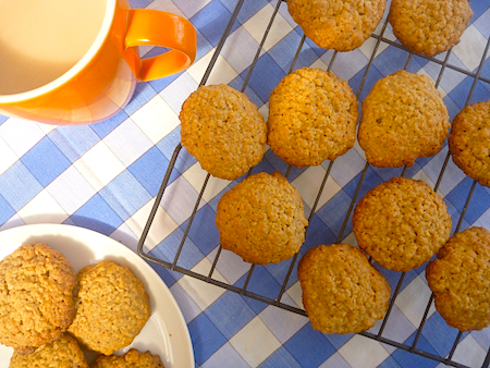 Brown sugar and oat biscuits