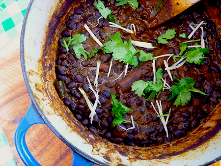 Indian black bean dahl