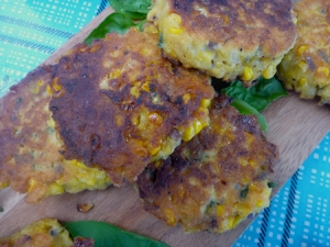 Southern corncakes with buttermilk and polenta