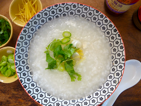 Vegetarian rice congee