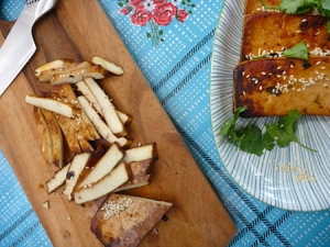 Deborah Madison's marinated sesame tofu