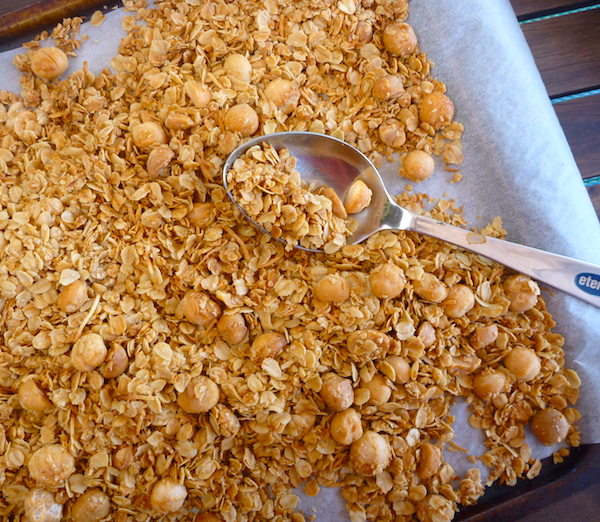 Molly Wizenberg's baked granola