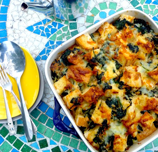 World Cup breakfasts: Spinach and cheese strata – The Back ...