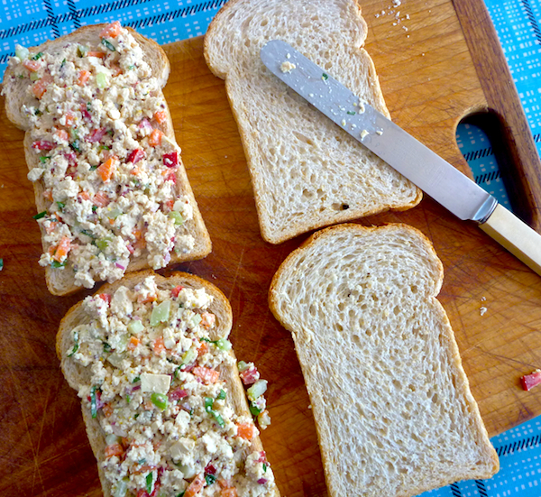 Tofu salad sandwich spread with pickled celery – The Back Yard Lemon ...