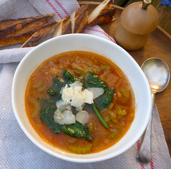 White bean soup with winter greens