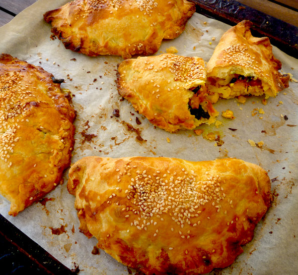 Indian spiced vegetable pasties