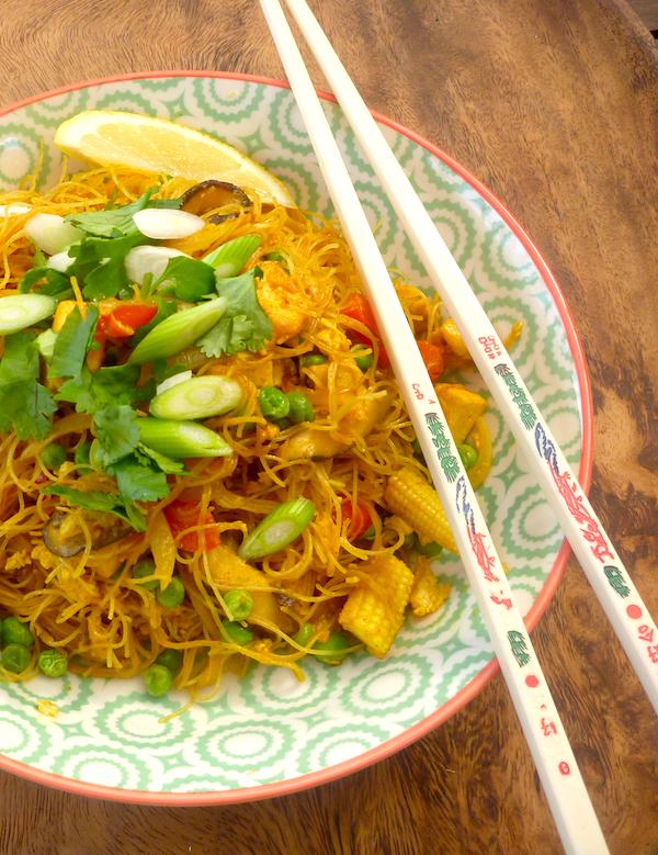 Vegetarian singapore noodles the back yard lemon tree vegetarian singapore noodles forumfinder Images