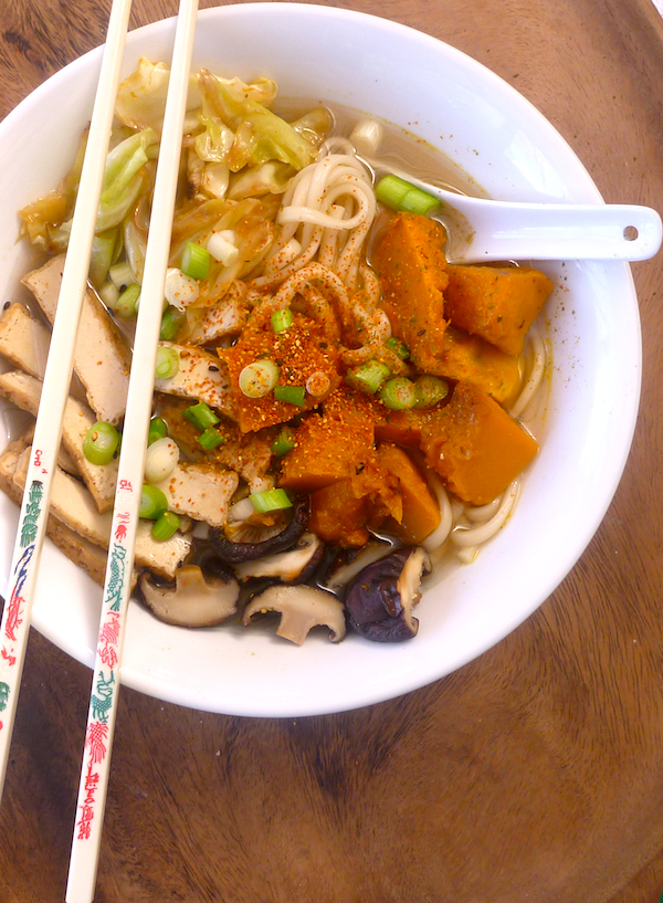 Udon noodle miso soup with Asian vegetable stock – The Back Yard ...