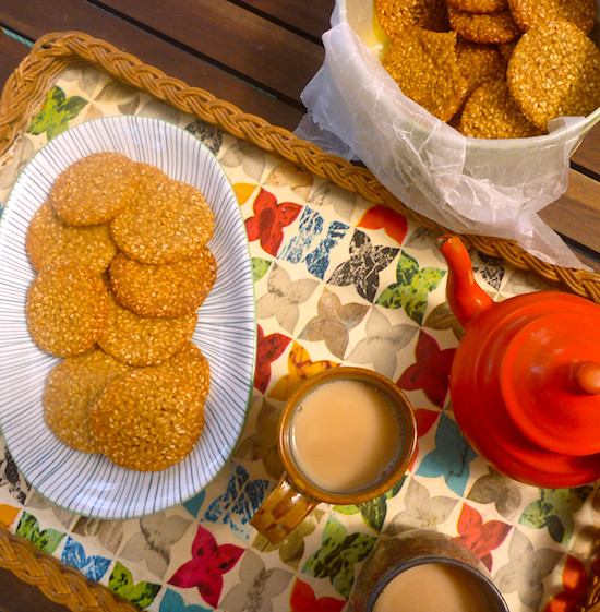 Benne (sesame seed) wafers recipe