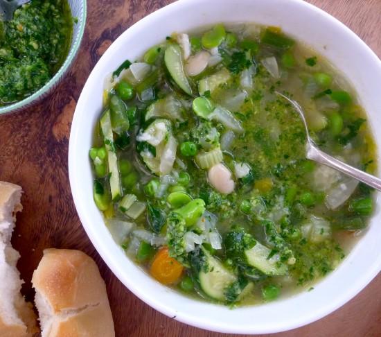 Vegetarian minestrone primavera