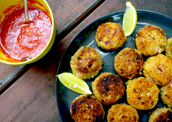Quinoa cakes with onion