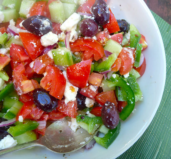 Classic Greek Salad #vegetarian #recipe