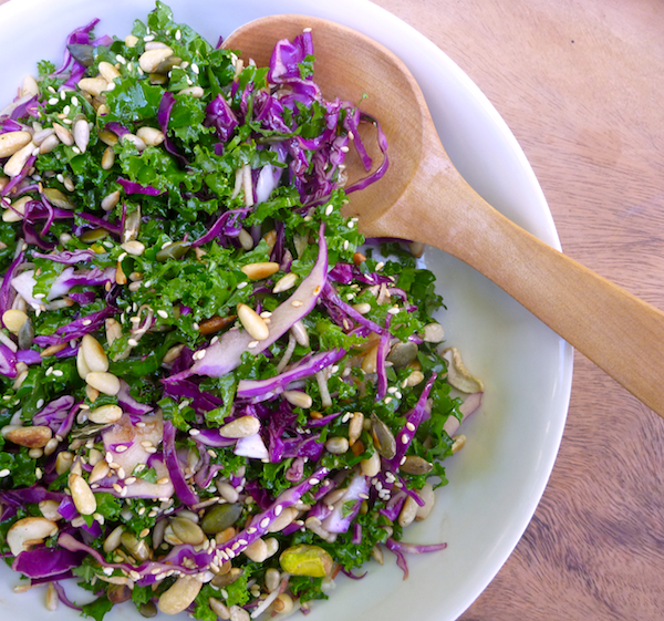 Kale, red cabbage and apple slaw