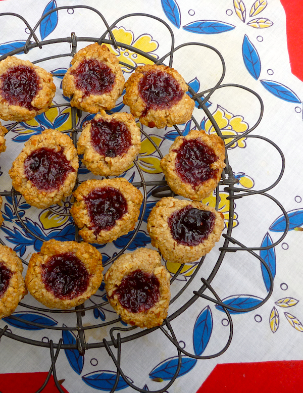 The best vegan cookies ever - Jam drops from the Tassajara Cookbook