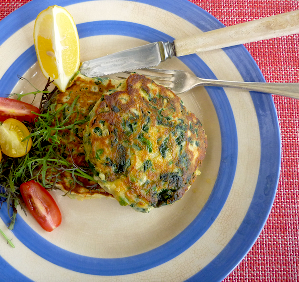 Ottolenghi's green pancakes