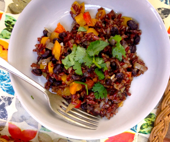 Gallo Pinto - Costa Rican beans and rice #vegan #breakfast