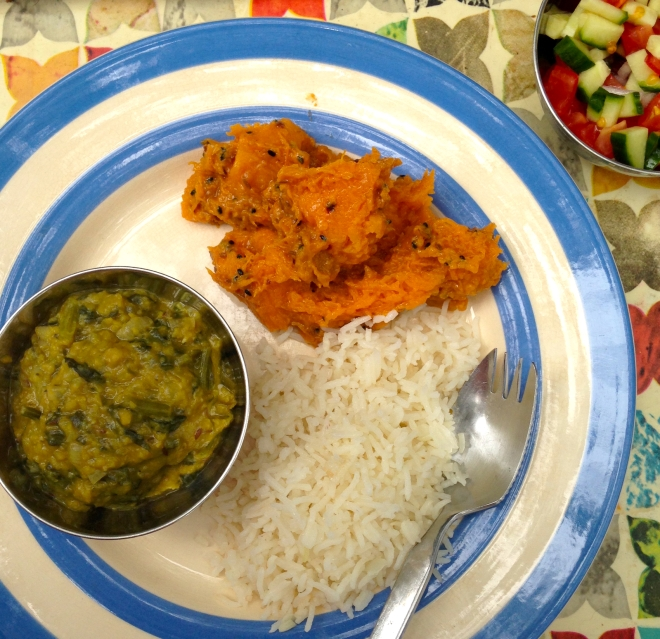 Madhur Jaffrey's Dehli style sweet and sour pumpkin