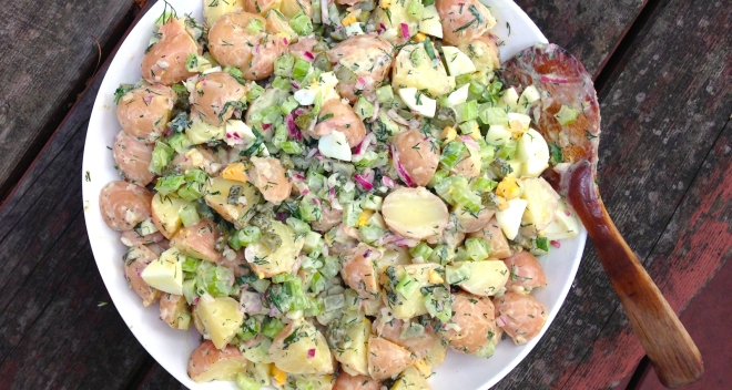 Rosanne Cash's potato salad #summer #vegetarian #barbecue