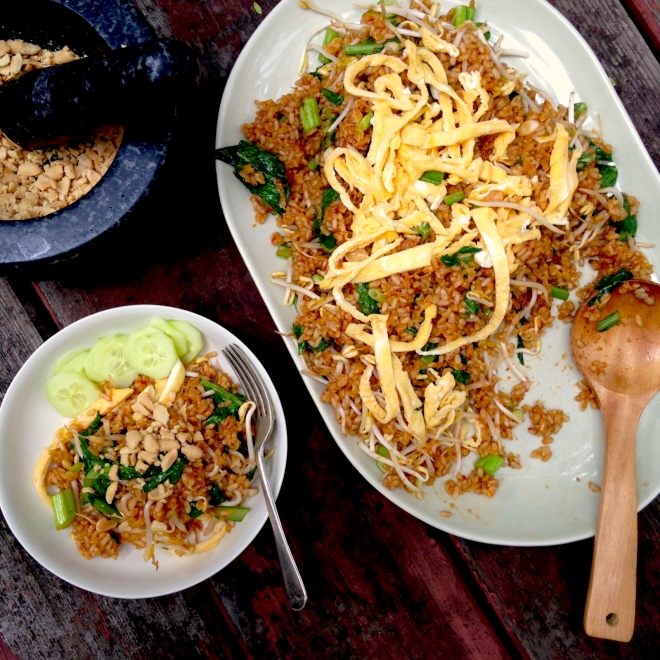 Nasi Goreng with brown rice and Asian greens #community #vegetarian #recipe