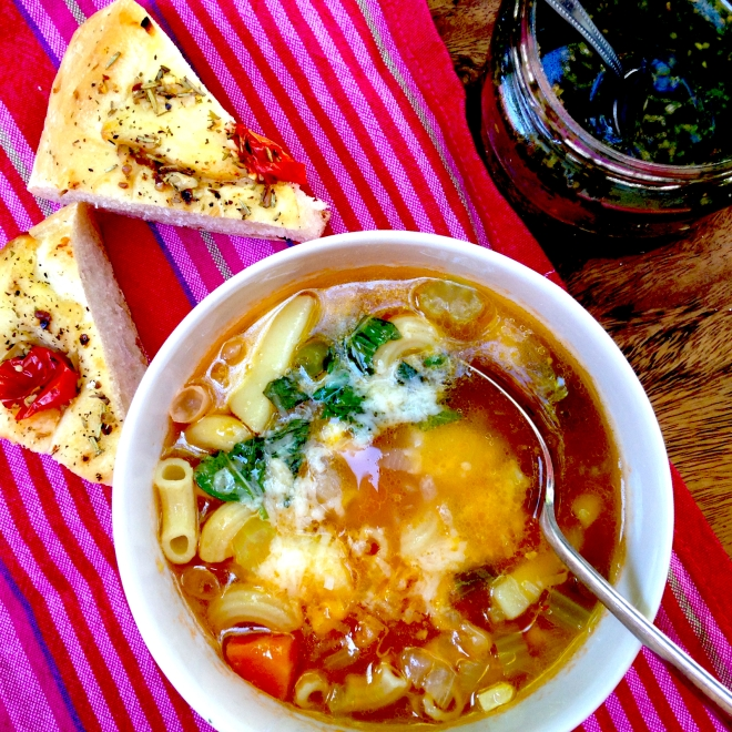 Perfect minestrone soup #vegetarian