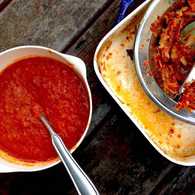 Roasted tomato sauce #vegan #autumn
