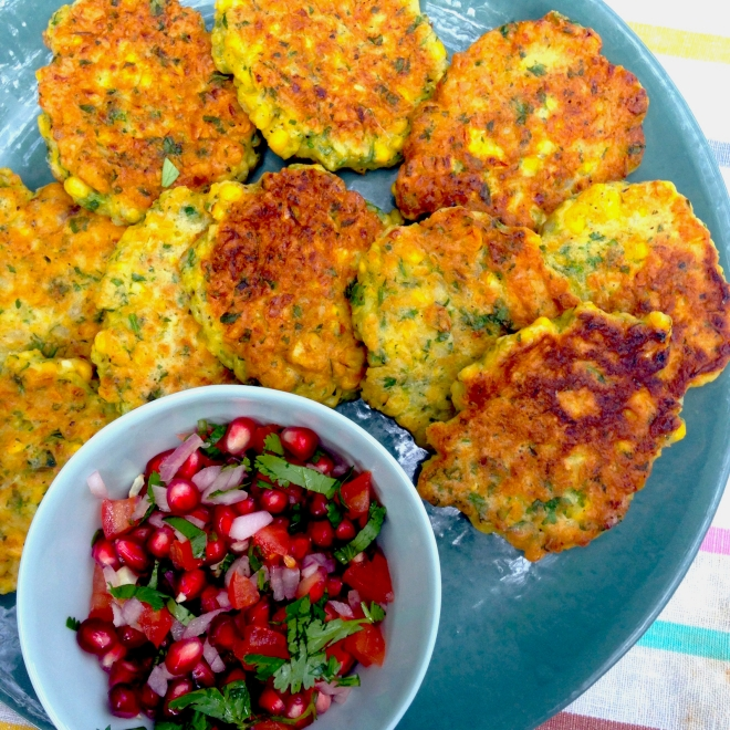 Bill Granger's corn cakes #vegetarian #breakfast