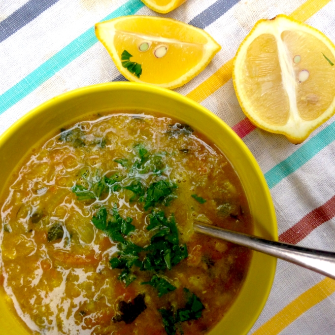 Mum's red lentil soup #vegan #recipe