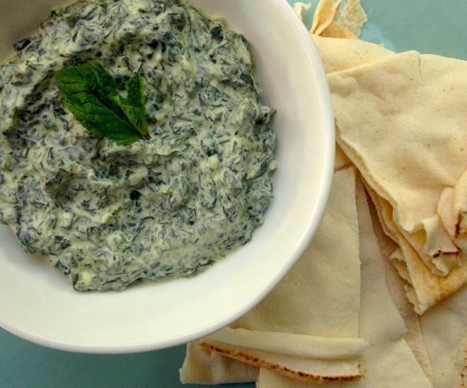 Green Goddess Spinach Raita - #vegetarian #appetiser