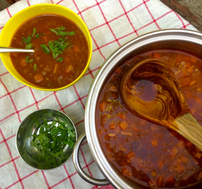 Greek lentil soup #vegan #frugalfood #recipe