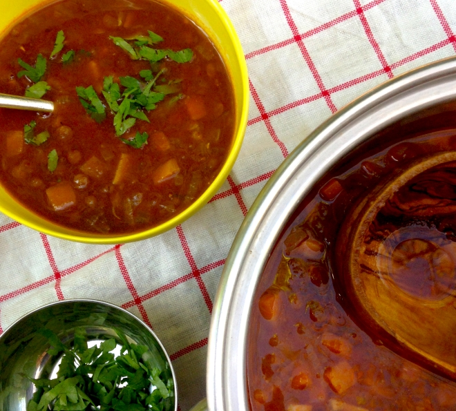 Greek lentil soup #frugalfood #vegan #recipe