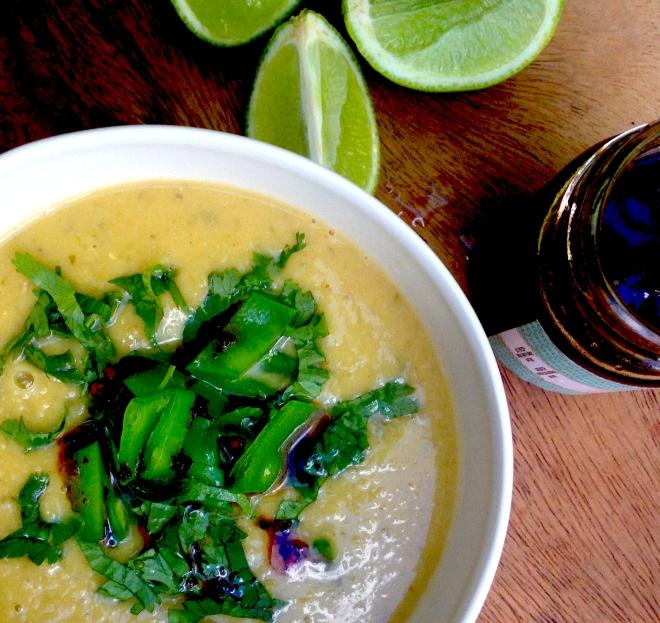 Ottolenghi's Thai red lentil soup #vegan #recipe #winter