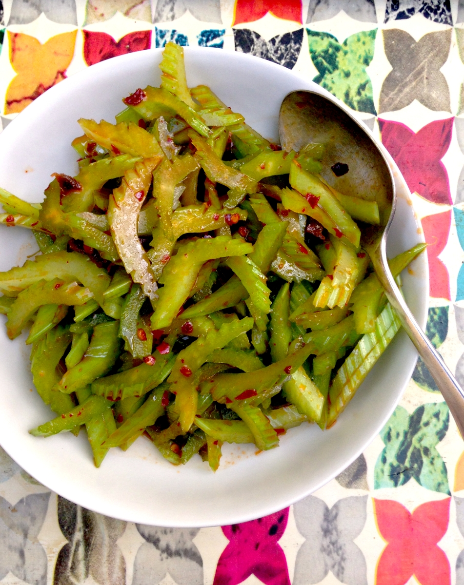 Chinese spicy celery salad