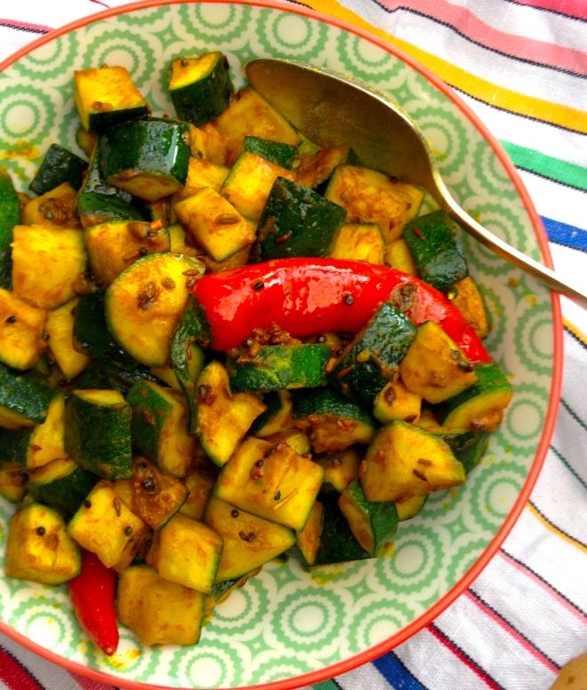 Bengali style zucchini sabzi