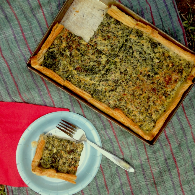 Sheet pan spinach quiche #vegetarian