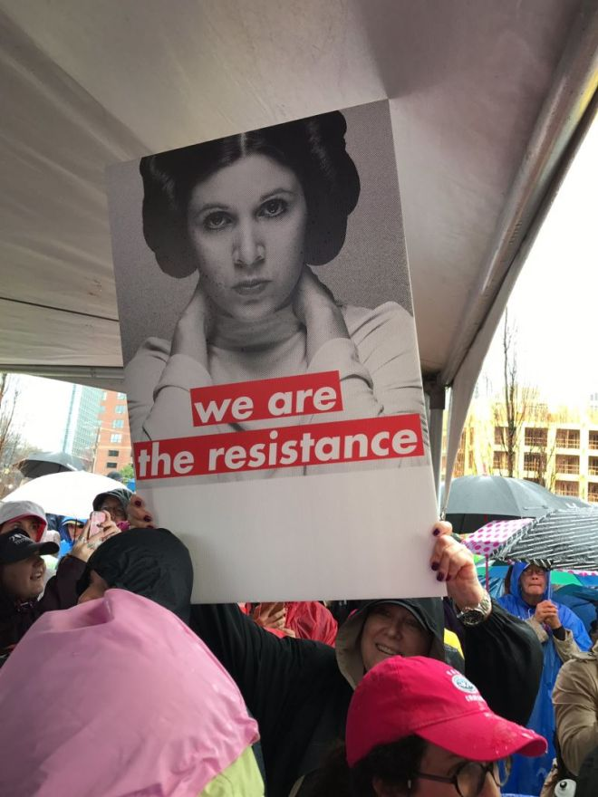 Princess Leia #WomensMarch