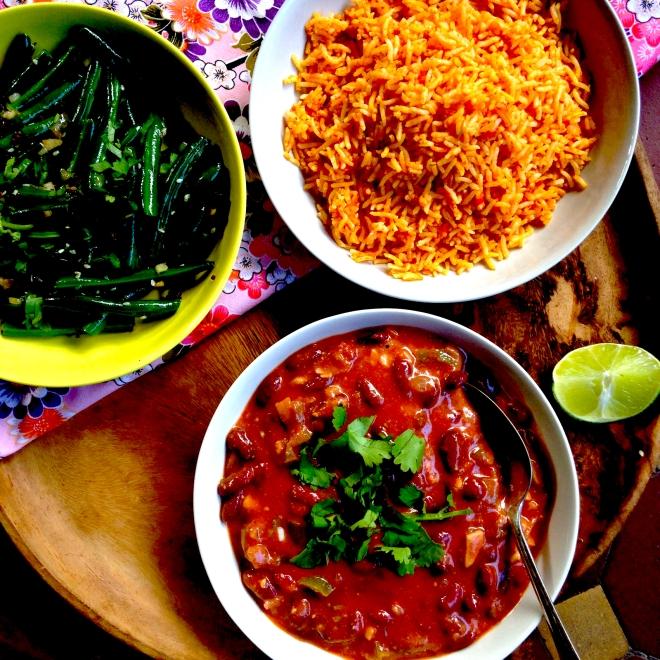 Nigerian red kidney bean stew with peanut sauce #vegan #mains