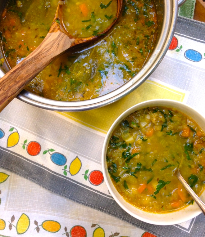 Pearl barley broth #vegetarian #soup