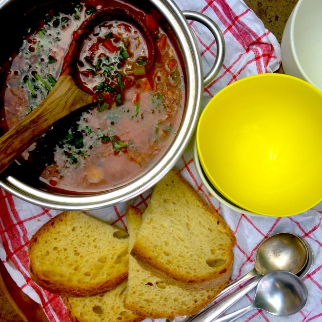 Jill Dupleix's Life saving lentil soup