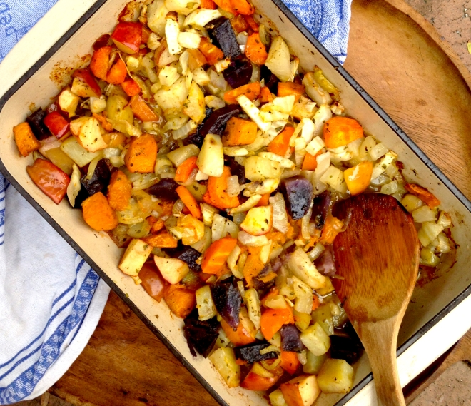 Roasted winter vegetables #vegan #side